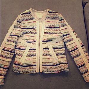 IRO multi color tweed jacket size 1